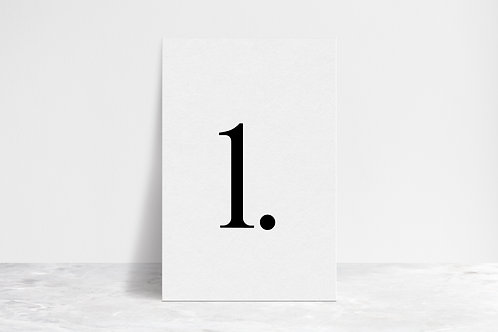 Minimal Table Numbers