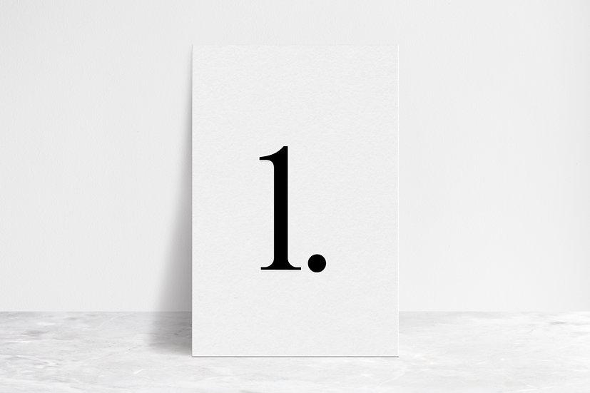 Minimal Table Numbers
