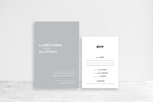 Lauren 2 Card Invitation Suite