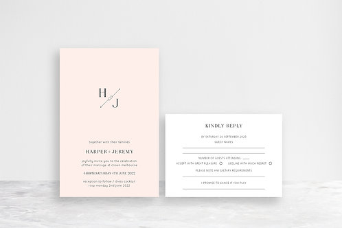 Harper 2 Card Invitation Suite