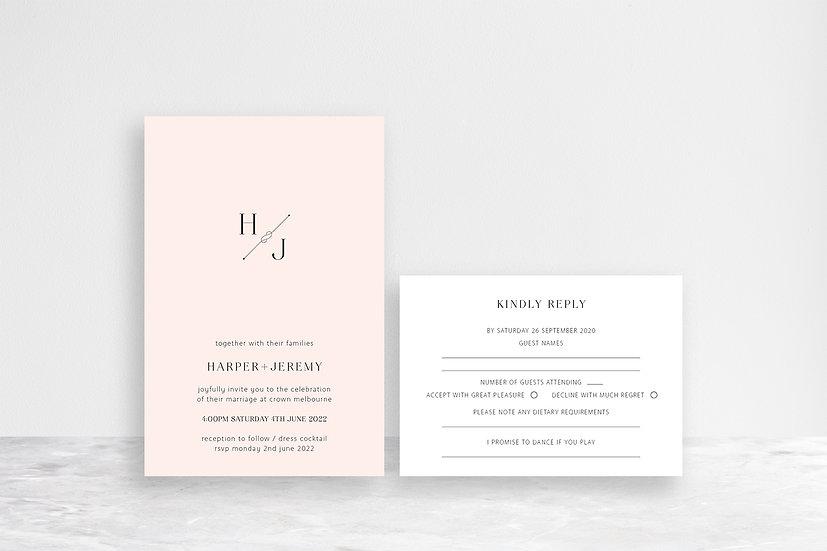 Harper 2 Card Invitation Suite