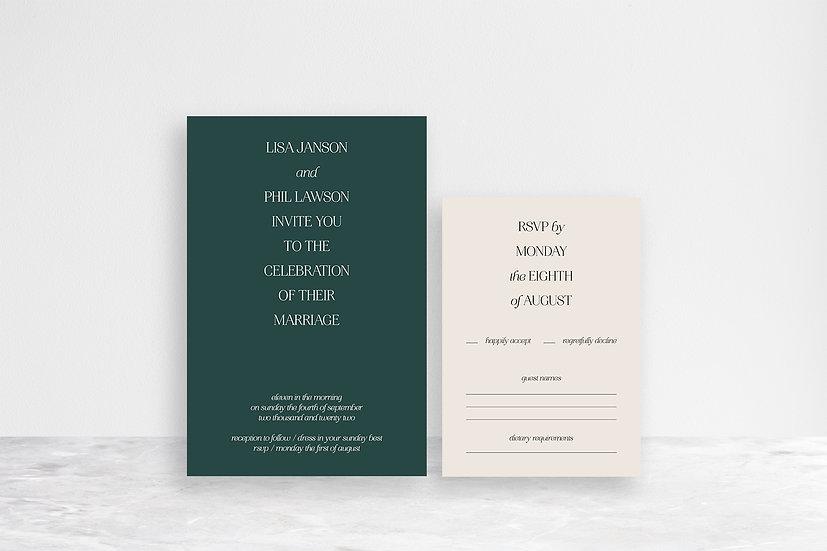 Lisa 2 Card Invitation Suite