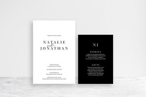 Natalie 2 Card Invitation Suite