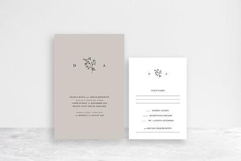 Dianna 2 Card Invitation Suite