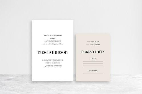 Hudson 2 Card Invitation Suite