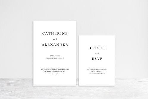 Catherine Invitation Suite