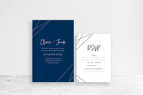 Olivia 2 Card Invitation Suite