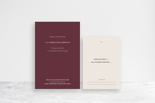 John 2 Card Invitation Suite