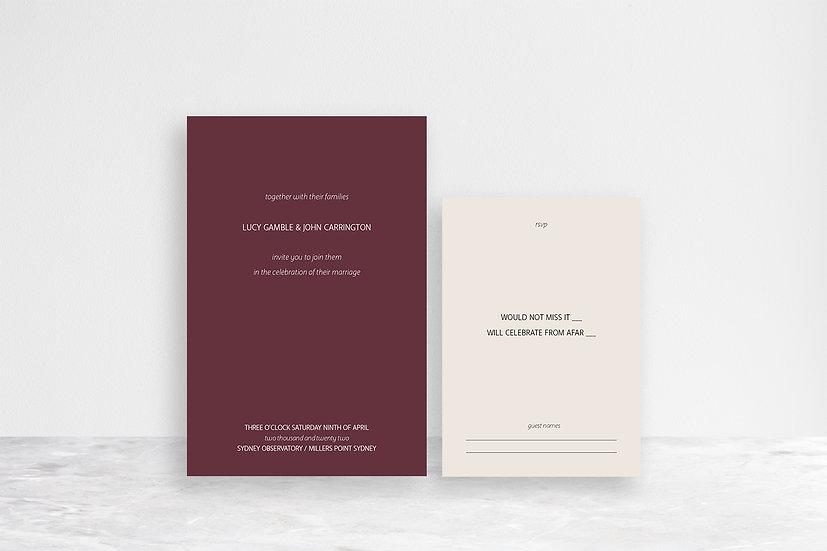 John 2 Card Invitation Suite