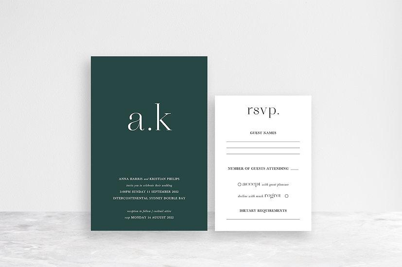 Anna 2 Card Invitation Suite