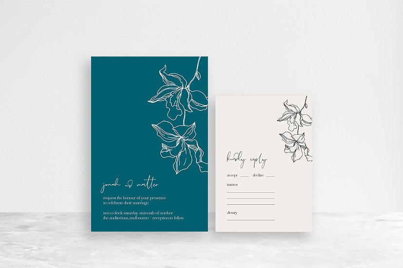 Matteo 2 Card Invitation Suite