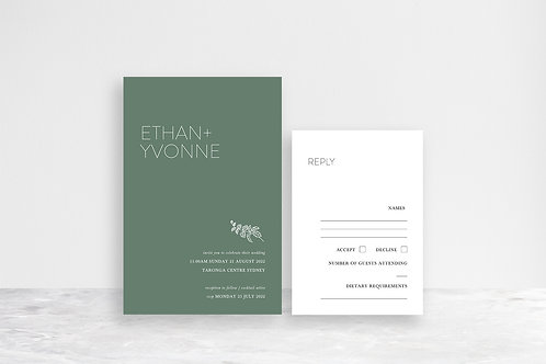 Ethan 2 Card Invitation Suite