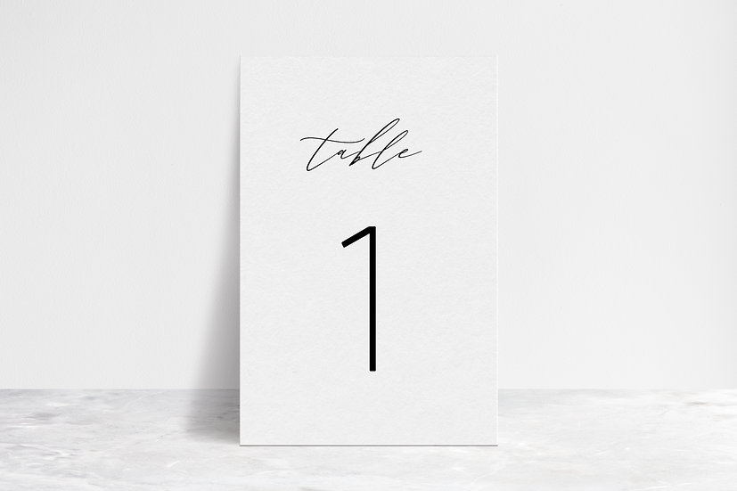 Delicate Table Numbers