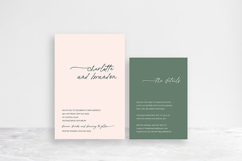 Charlotte 2 Card Invitation Suite