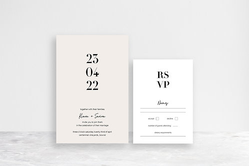 Sarina 2 Card Invitation Suite