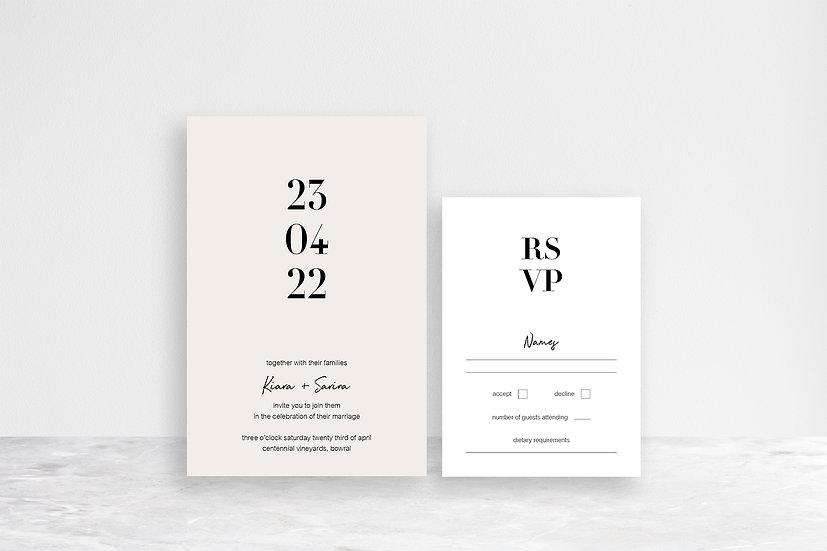 Sarina 2 Card Invitation Suite
