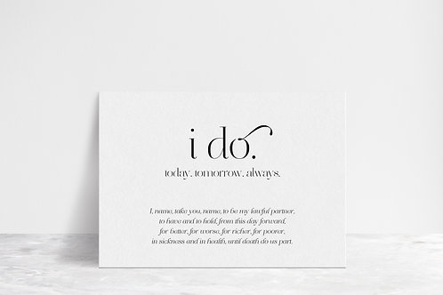 I Do Vows Flat Card