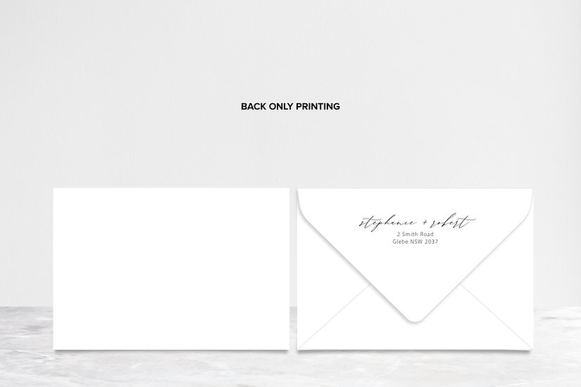Envelope with Back Only Printing