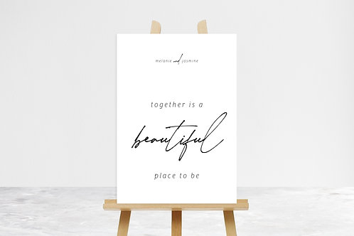 Beautiful Place To Be Quote Sign