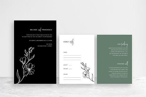 Belinda 3 Card Invitation Suite