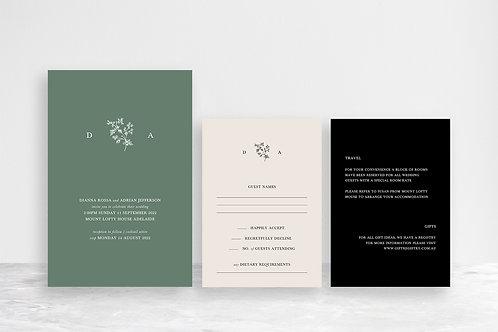 Dianna 3 Card Invitation Suite