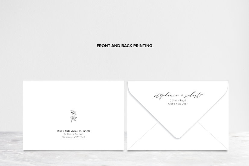 Envelope with Front & Back Printing