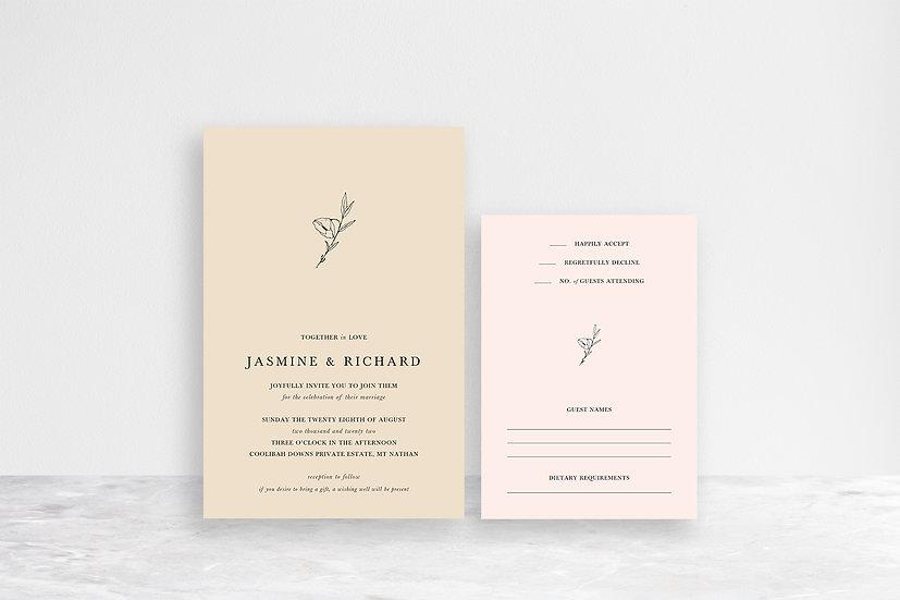 Jasmine 2 Card Invitation Suite