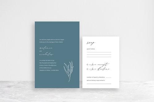 Melanie 2 Card Invitation Suite