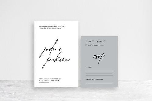 Jackson 2 Card Invitation Suite