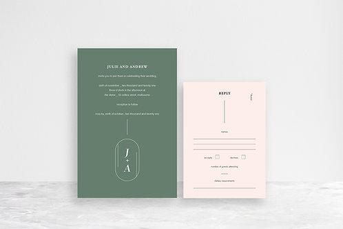 Julie 2 Card Invitation Suite