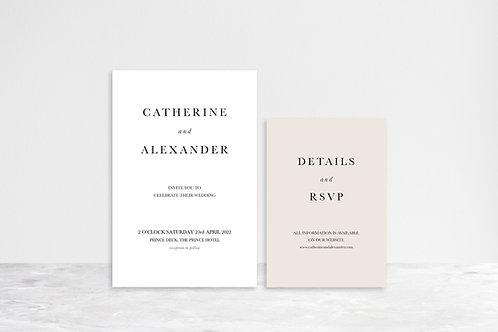 Catherine 2 Card Invitation Suite