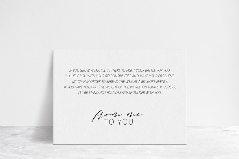 From Me To You Vows Flat Card