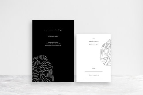 Tatiana 2 Card Invitation Suite