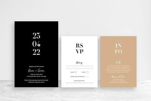 Sarina 3 Card Invitation Suite