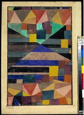 Montagne bleue, Paul Klee, 1919