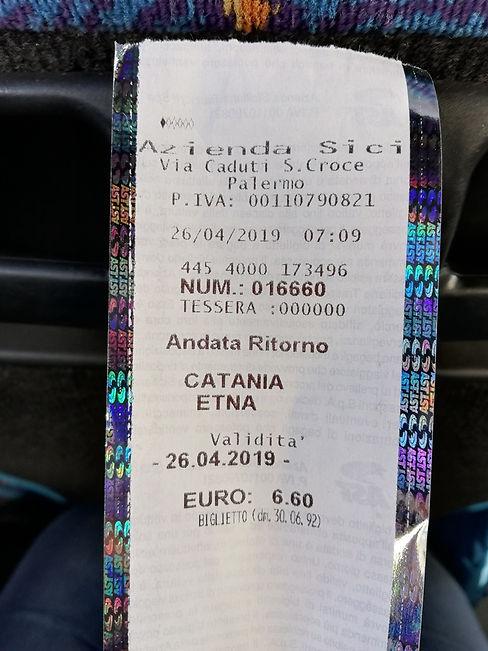 Автобусный билет на вулкан