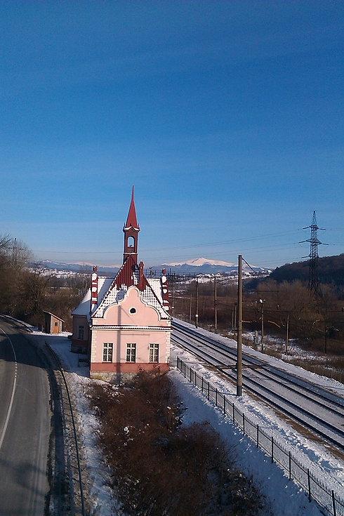 Вид на вокзал с моста