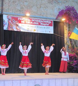 Украинские танцы на испанском фестивале