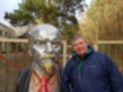 Ленин возле РЛС Дуга в Чернобыле