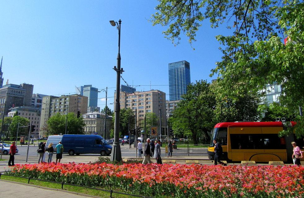 Типичный проспект Варшавы