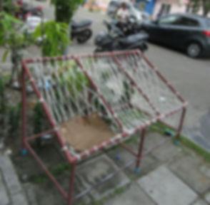 Веревочная скамейка в Хулхумале
