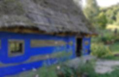 Пирогово, хата из Закарпатья