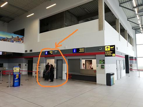 Касса автобусных билетов, аэропорт Пардубице