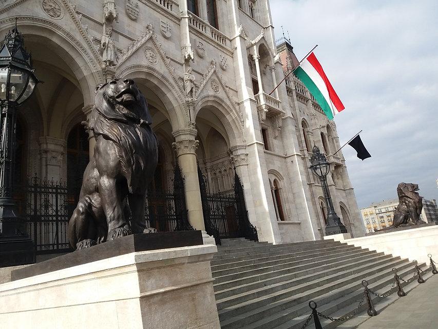 Львы возле венгерского парламента