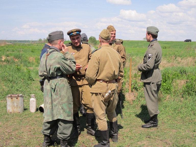 Лагерь советских войск