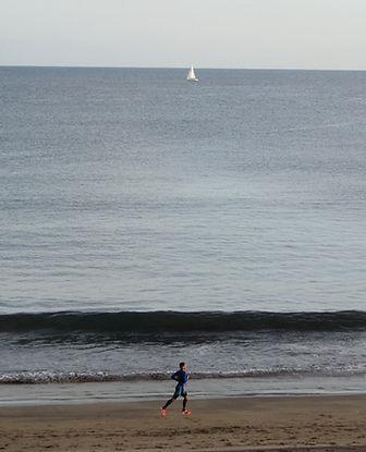 Бег вдоль океана