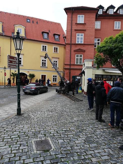 Очередной дубль на съемках фильма, Прага