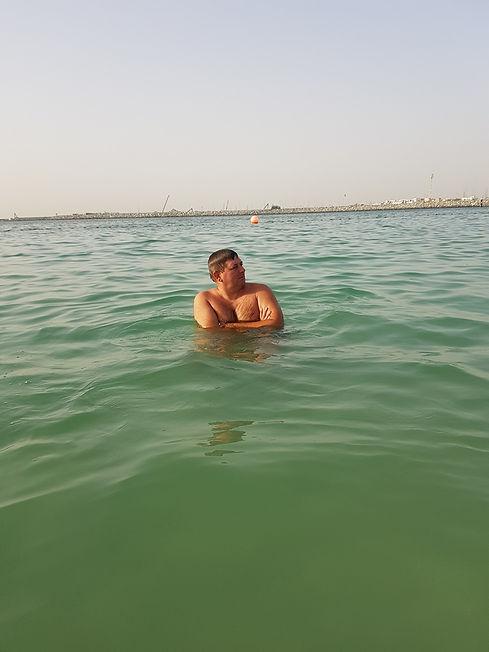 Купание в Персидском заливе, Дубаи