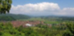 Бали. Вид с горы на деревню
