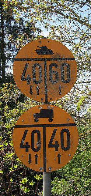Дорожный знак для танков